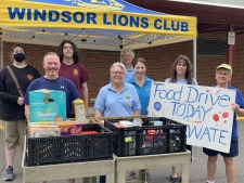 8/21-Windsor Lions Food Drive-Volunteers